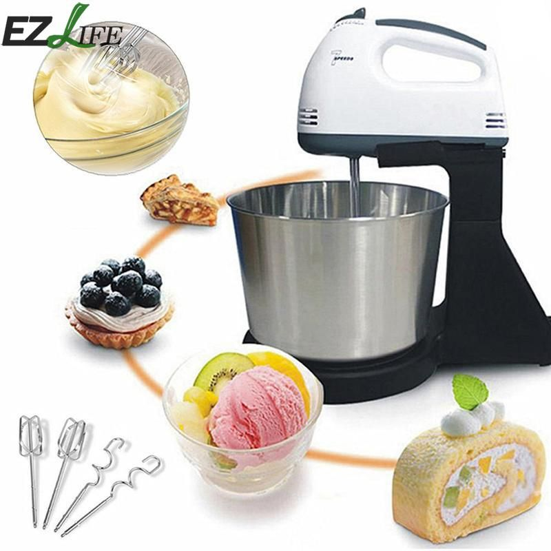 Automatic Mini Baking Stirring Beat Cream Bucket With Desktop And Noodle Machine Hand-held Electric Mixer Household LQX7026