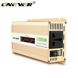 Onever Car Inverter 12v to 220v Power Inverters 2000W Power Converter DC12V to AC 220V Voltage Transformer with LCD Display