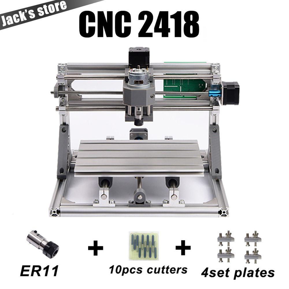 Cnc 2418 avec ER11, cnc machine de gravure, Pcb Fraiseuse, machine de Sculpture Sur Bois, mini cnc routeur, cnc2418, meilleur Avancée jouets