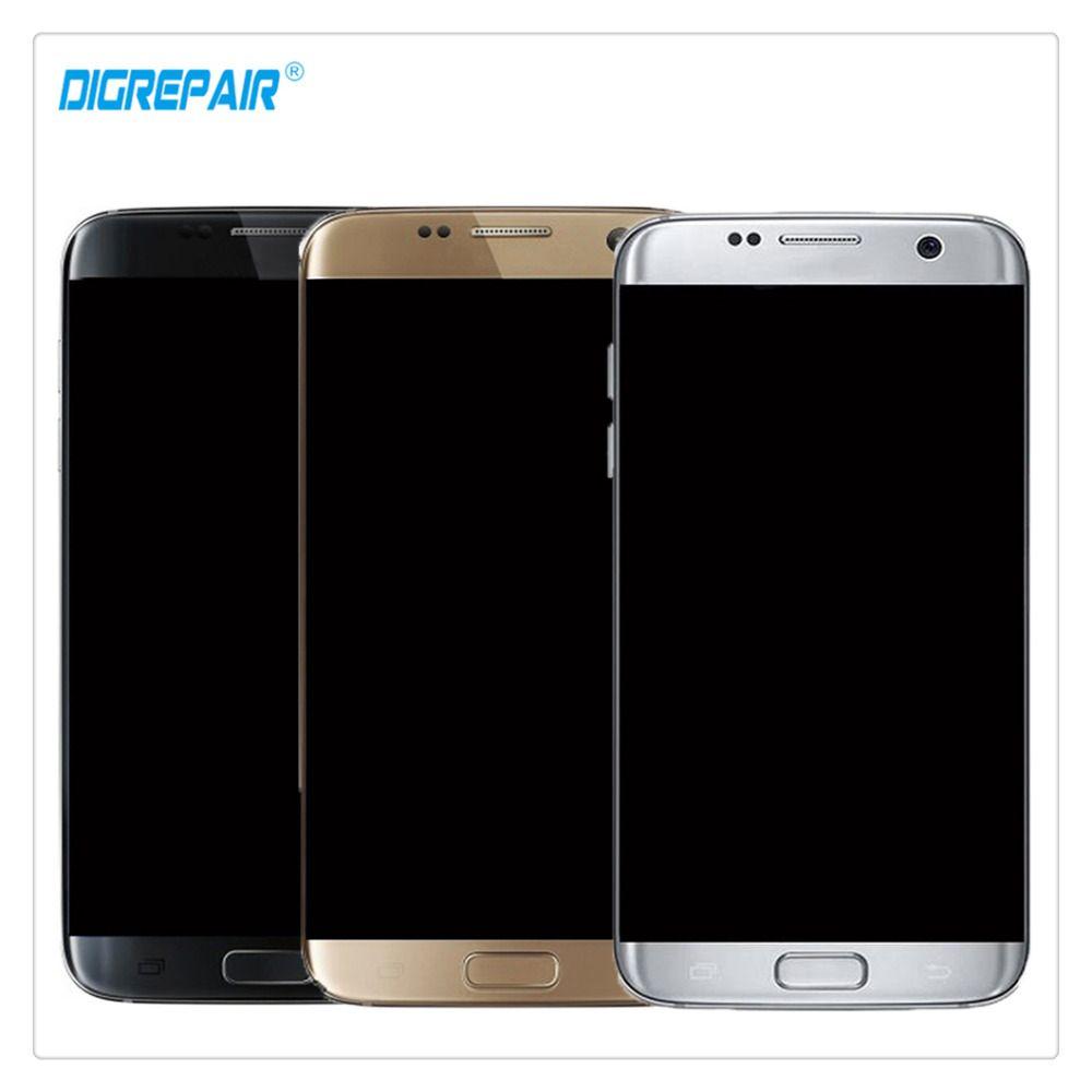 AAA Schwarz/Silber/Gold Für Samsung Galaxy S7 rand G935A G935T G935P G935V LCD Display Touchscreen Digitizer Montageteile + Rahmen