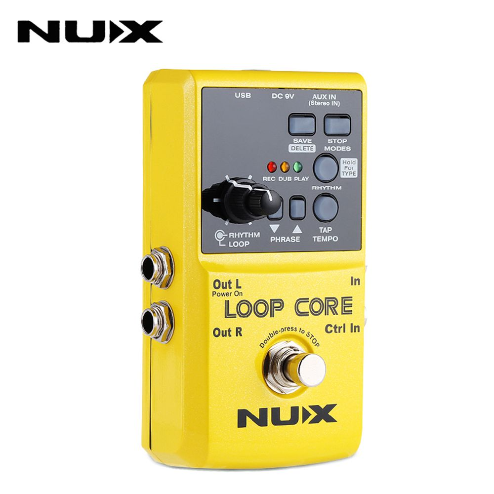 NUX Loop Core Guitar Effect Pedal Looper 6 Hours Recording Durable Effects Pedal Compact Powerful Electric Guitar Accessories