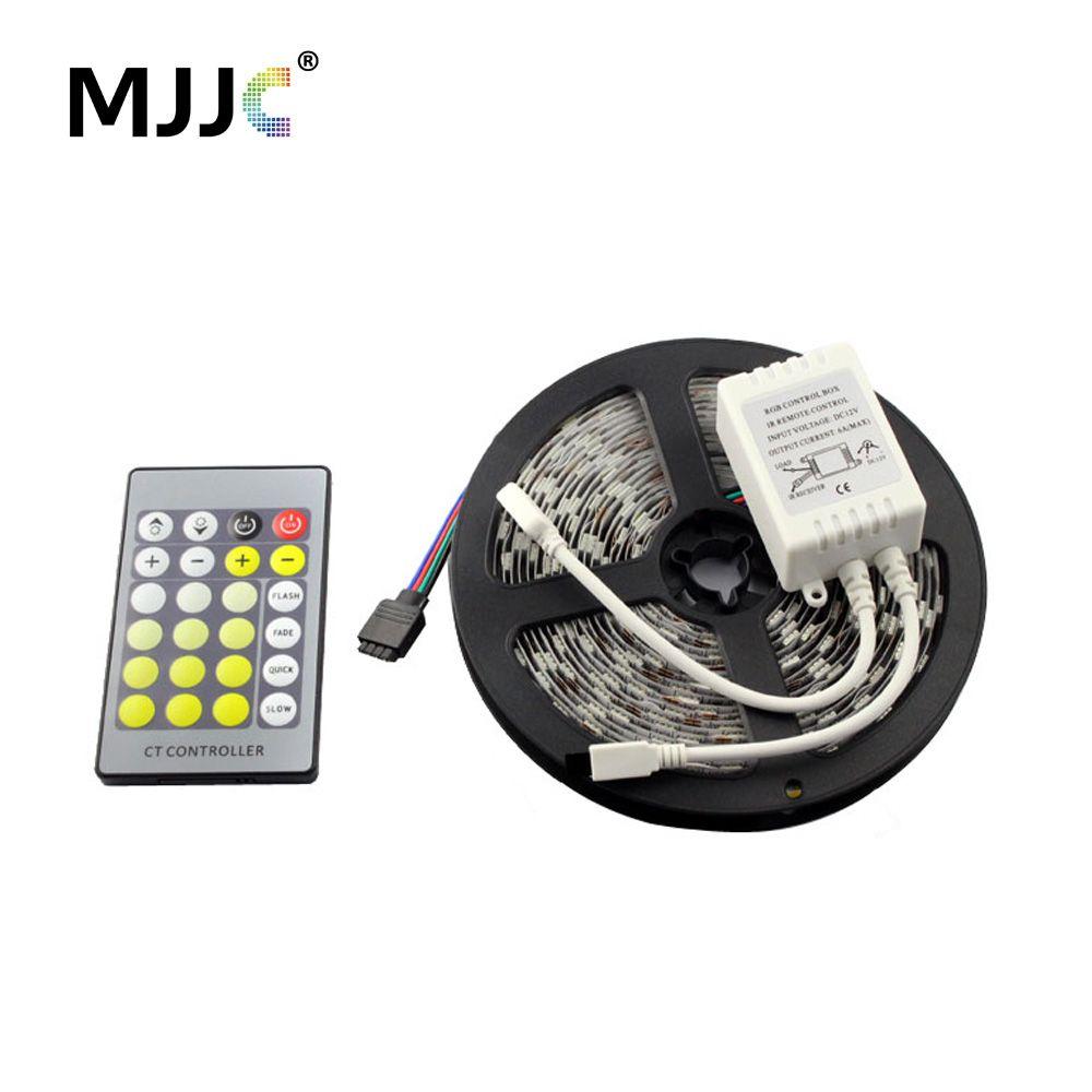 5 M 300 LED lumière de bande Dimmable 12 V DC chaud à froid blanc CCT réglable Kit de bande de lumière LED Flexible pour l'éclairage intérieur à la maison