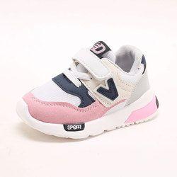 2018 nuevo niño de los cabritos Zapatos para bebé Niños Niñas niños casual sneakers aire malla transpirable Soft Correr deportes Zapatos rosa gris