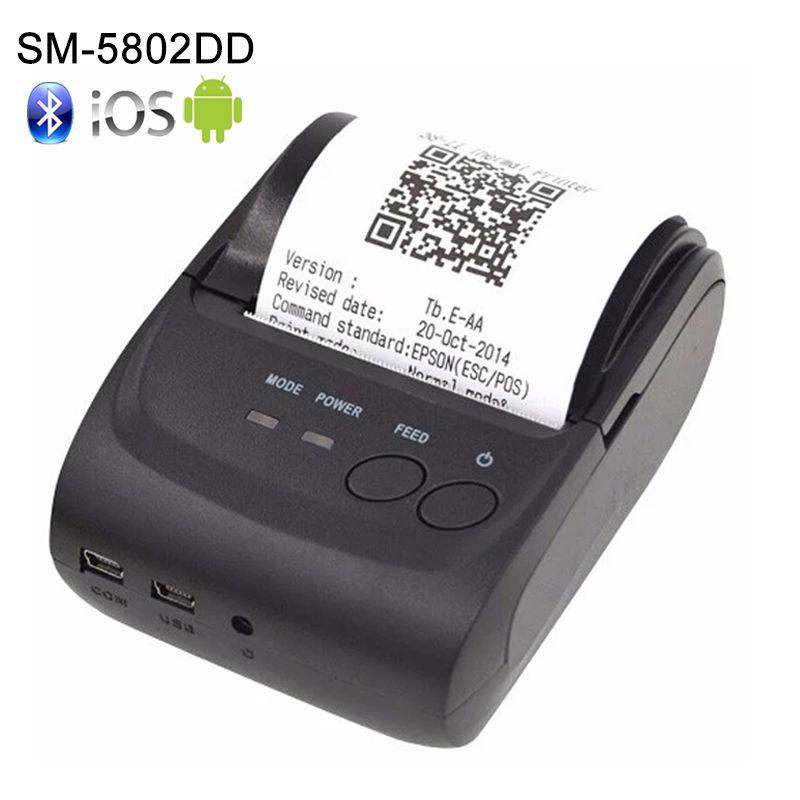 Imprimante thermique sans fil androïde de Bluetooth de SDK 58mm Mini imprimante thermique de reçu de Bluetooth-Android de Bluetooth