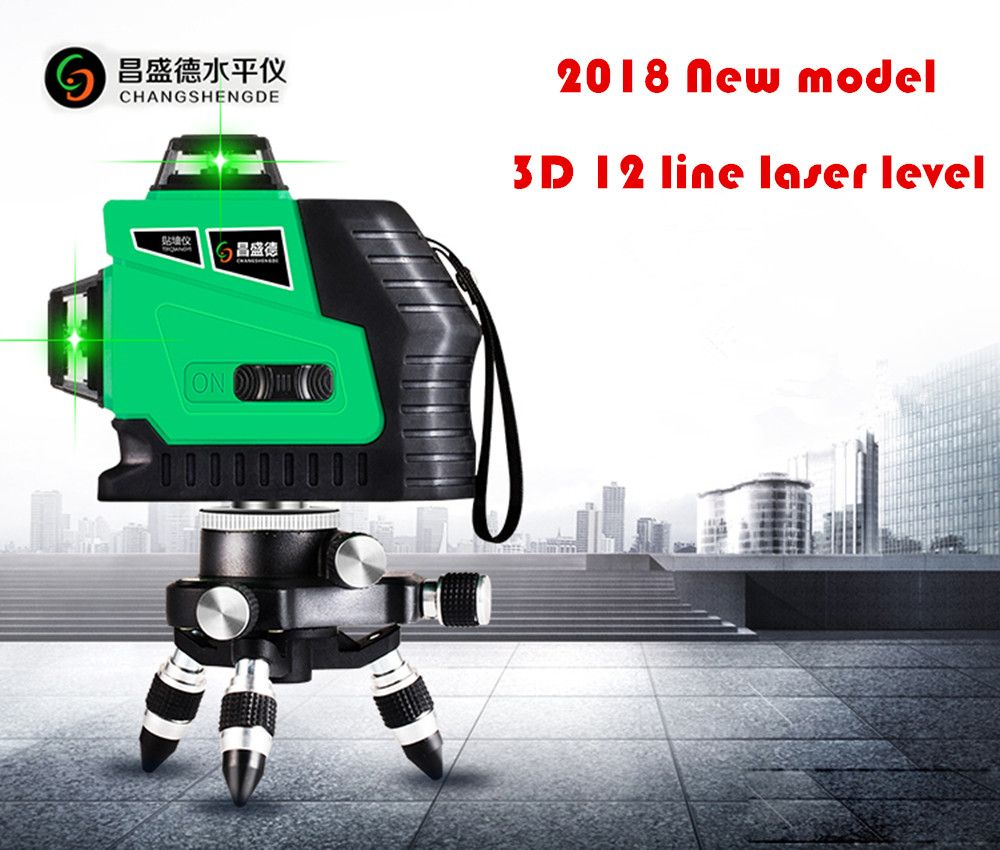 2018 New Model Red lines or Green lines 3D 12Lines <font><b>laser</b></font> level,Self-Leveling 360 Horizontal,Vertical Cross Super Powerful