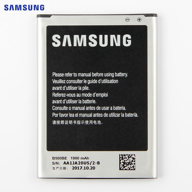 SAMSUNG Original Remplacement Batterie B500BE Pour Samsung GALAXY S4 Mini I9190 I9192 I9195 I9198 S4Mini Batterie 3 broches 1900 mAh