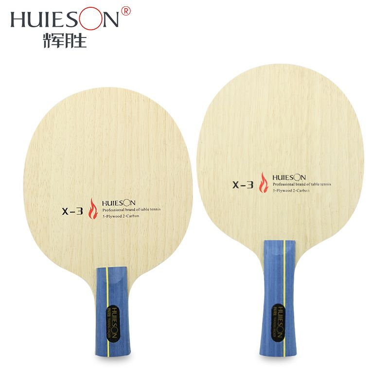Huieson 7 Ply Hybrid Carbon Table Tennis Racket Blade Soft Limba Surface Big Central Candlenut Blade for Loopkilling Player X3