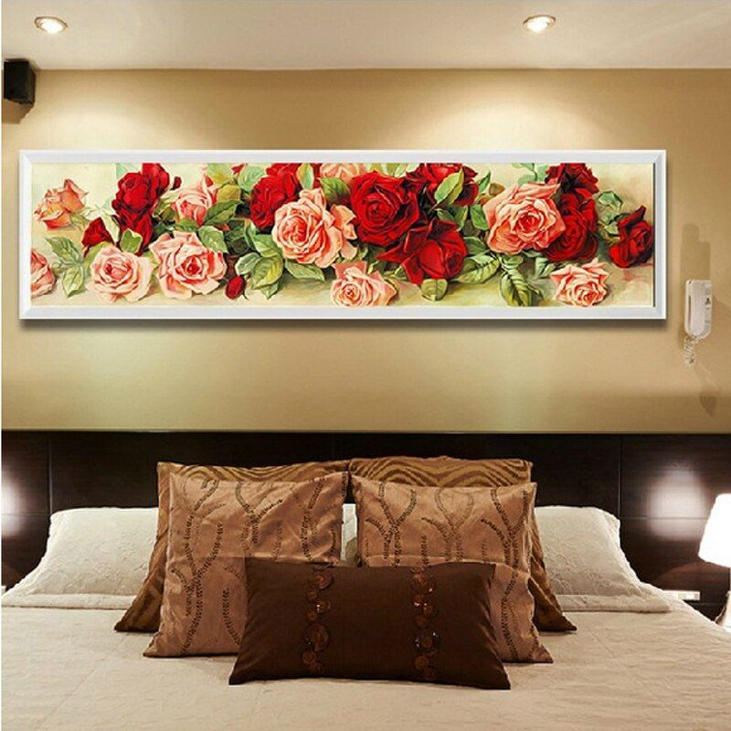 Home Decoration Diamond Painting rhinestone Cross Stitch rose flower Diy Diamond Embroidery Floral  Diamond Mosaic Wall Decor