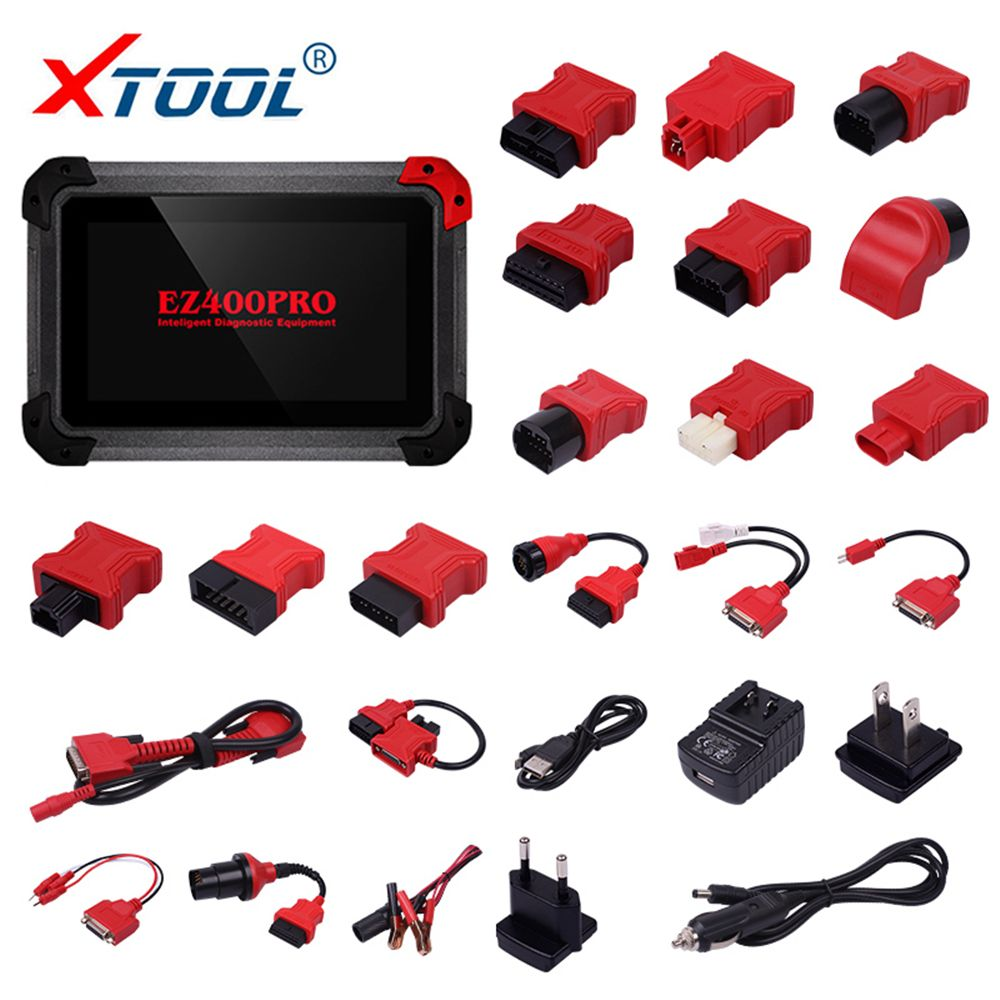 2018 XTOOL EZ400 PRO OBD2 Auto Diagnostic Tool All Systems Car Scanner EPB Odometer Correction SAS TMPS PK MK808 w/ OBD Adapters