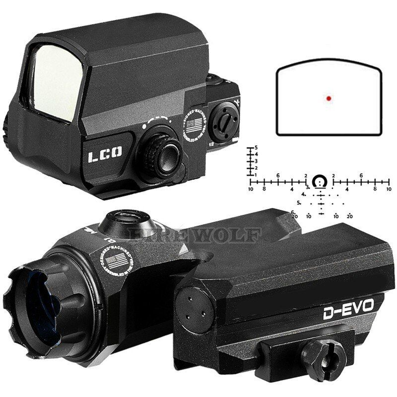 D-EVO Dual-Enhanced View Optic Reticle Rifle Scope Magnifier With LCO Red Dot Sight Reflex Sight Rifle Sight