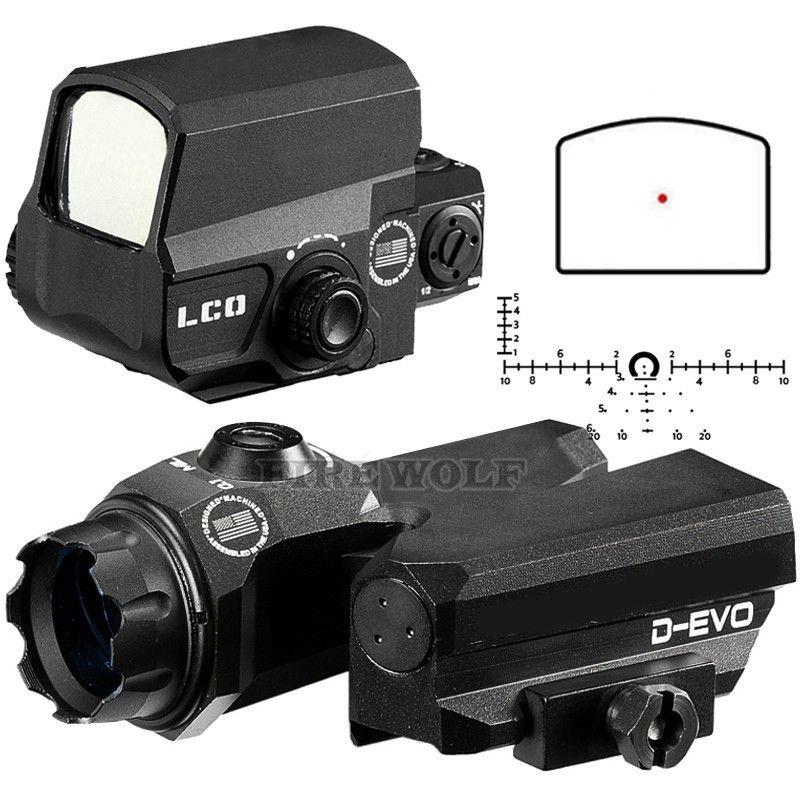 D-EVO Dual-Verbesserte Ansicht Optic Absehen Zielfernrohr Lupe Mit LCO Red Dot Sight Reflex Anblick Gewehr Anblick