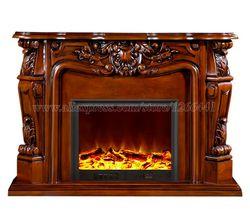 Декоративный камин комплект деревянная каминная доска W124cm электрический камин горелки комнату теплее светодио дный оптический пламени ...