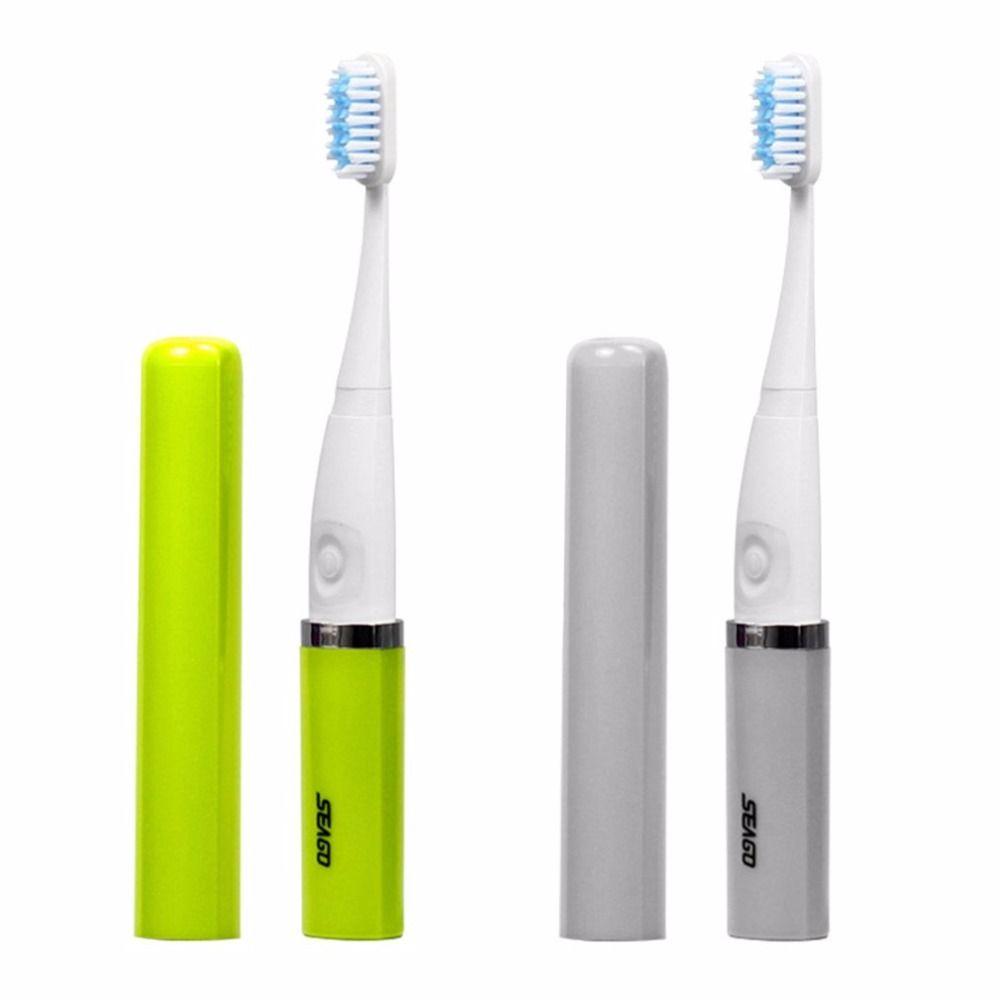 Seago Electric Toothbrush Portable camping SG-632 Ergonimic Anti-Slip Design Adult Sonic Energy save Waterproof Deep Clean Teeth