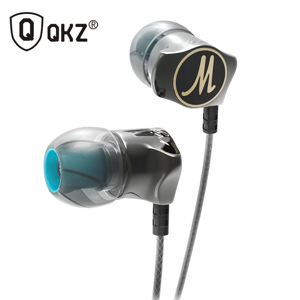 Écouteur QKZ DM7 en alliage de Zinc dans l'oreille écouteurs HiFi écouteur fone de ouvido casque auriculares audifonos stéréo basse métal DJ