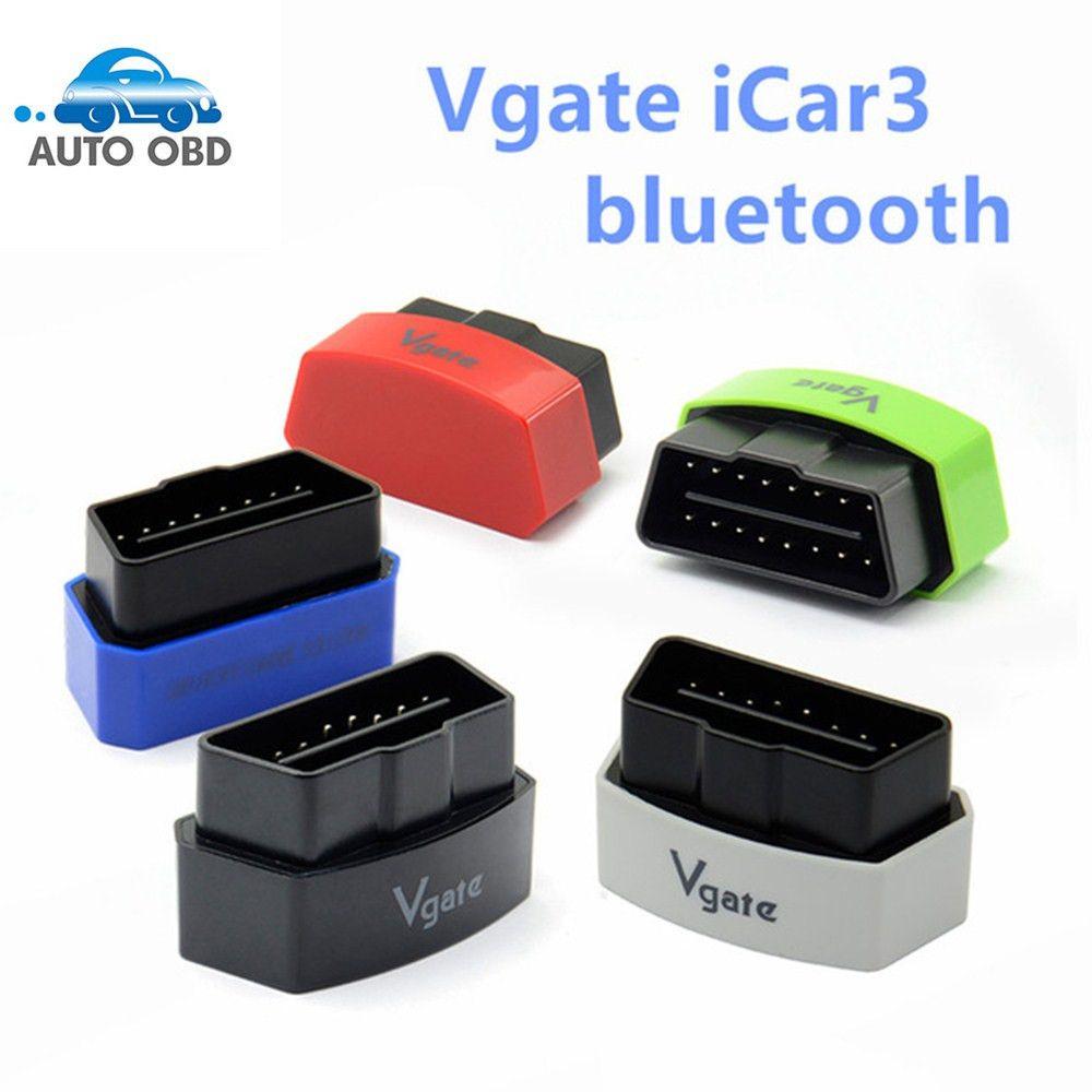 2017 недавно ELM327 Bluetooth Vgate iCar3 OBD EOBD OBD2 OBDII ELM327 iCar3 Bluetooth Vgate OBD2 диагностический Интерфейс Бесплатная доставка