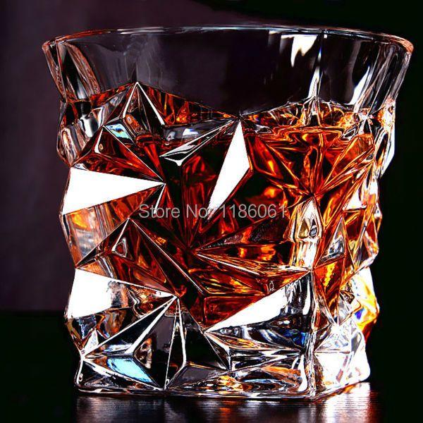 2 Pcs/ensemble Carré Cristal Whisky Tasse En Verre Pour la Home Bar Bière D'eau et Partie Hôtel De Mariage Lunettes Verres Cadeau