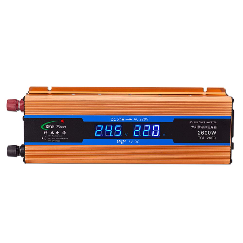 New Car Inverter 24V 2600W Power Suppl Converter DC 24V to AC 220V Automobiles Voltage inversor Car USB Charger CY925-CN