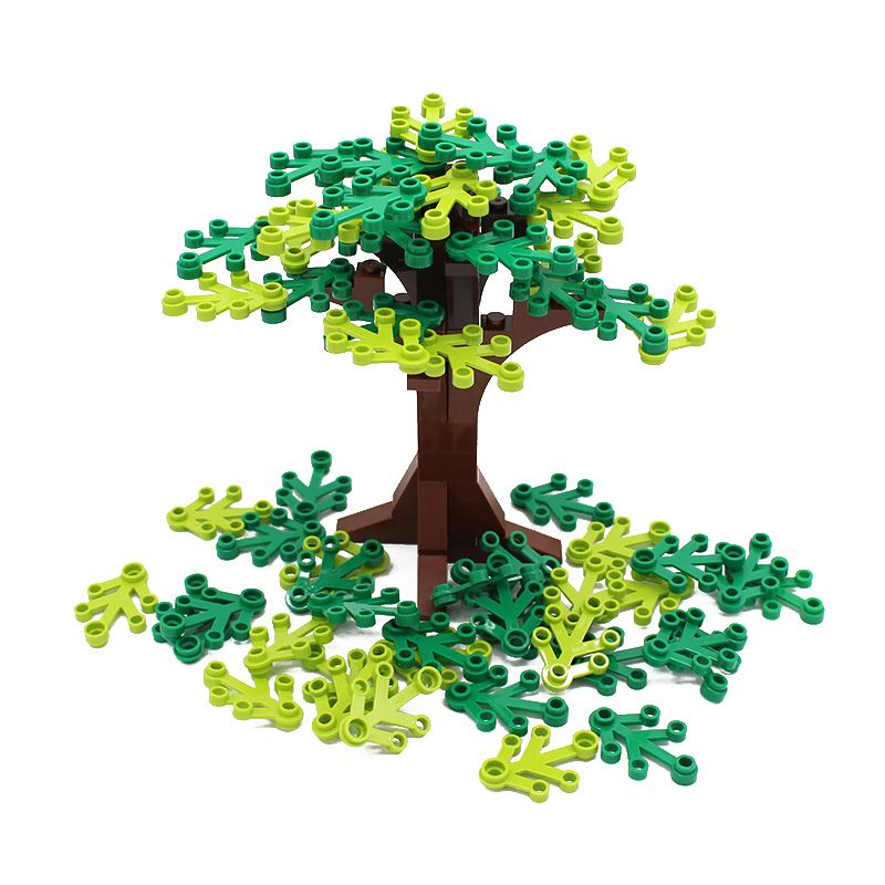 Free Shipping! Moc DIY Garden Tree Courtyard Enlighten Building Block Bricks Compatible with Assembles Particles