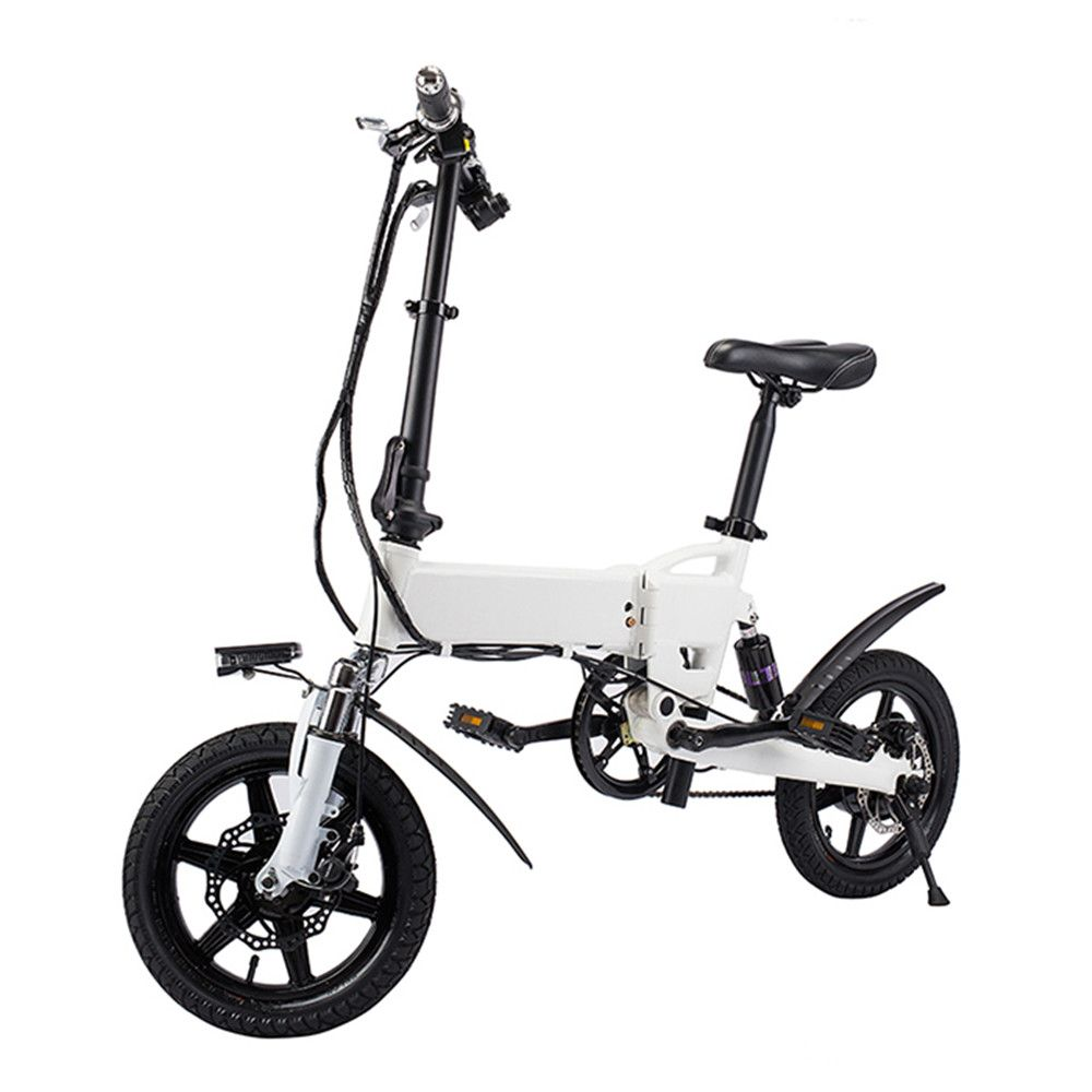 Free Shipping Smart Bike Electric Bicycle Foldable Moped Bicycle 250W 5.2Ah Battery / EU Plug / with Double Disc Brakes