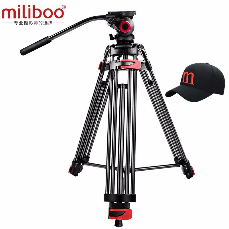 Miliboo MTT602A professionnel Portable en aluminium tête fluide caméra trépied pour caméscope/DSLR support vidéo trépied 76
