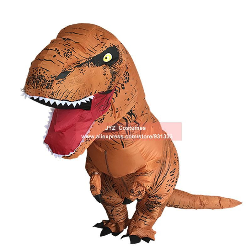Inflatable T-REX Costumes Dinosaur Fancy Dress for Adult Kid Men Women Dragon Blowup Halloween Jurassic World Cosplay Outfit