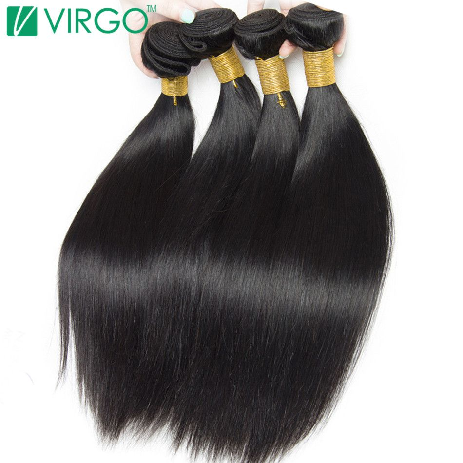 Peruvian Straight Hair 100% Human Hair Extensions Natural Black  1 Piece Non Remy Can Buy 3/4 Bundles Volys Virgo Hair Products