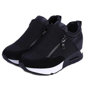 2019 Running Hiking Thick Bottom Platform Wedges Shoes Woman sports Sneakers Spring Autumn Fashion Ladies black students shoes