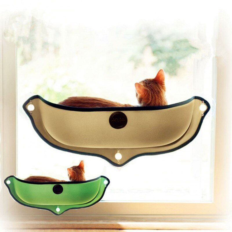 Removable pet Cat Window Bed Mounted dog cat hommock Sunbathing Cat Window dog Cat Lounger Perch Cushion Hanging Shelf
