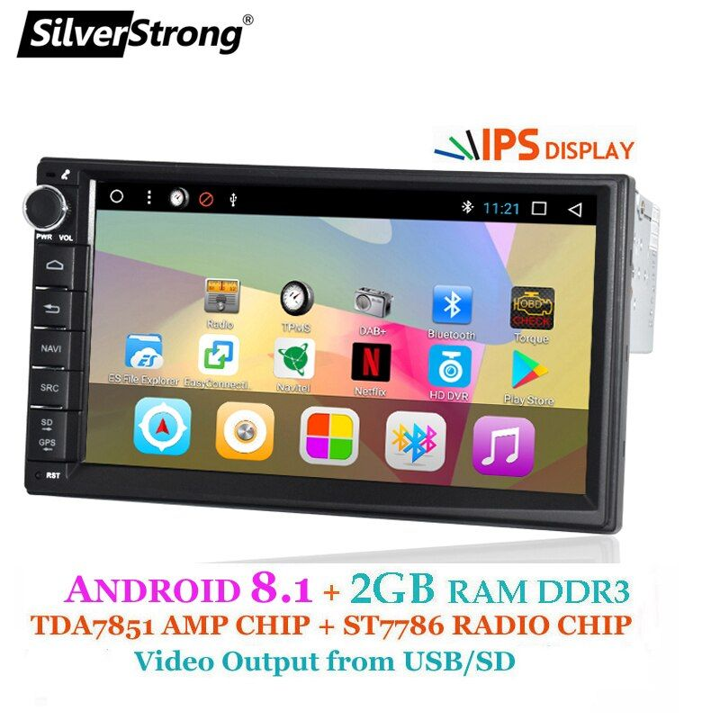 SilverStrong Android 1Din 7 Universal Auto dvd Radio Multimedia Bluetooth GPS Navigation Auto Stereo MirrorLink FM 707T3 1din 2g