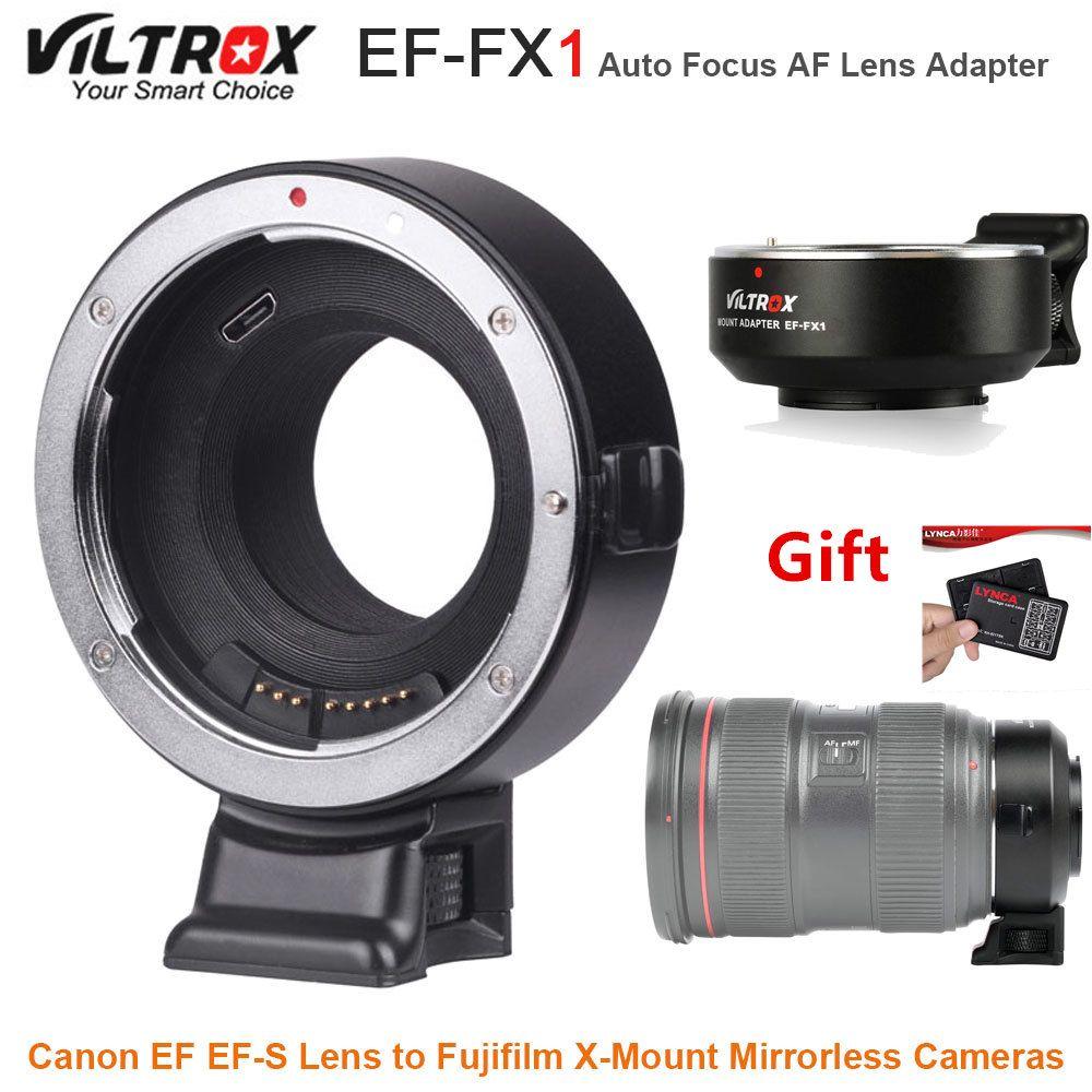 VILTROX EF-FX1 Auto Focus AF Lens Adapter Converter for Canon EF EF-S Lens to Fujifilm X-Mount Mirrorless Cameras