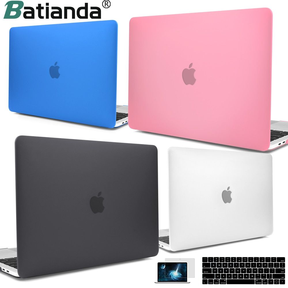 For New MacBook Pro Air Retina 13 15 Case 2018 2017 with Touch Bar & Keyboard Cover Clear Crystal Matte <font><b>Hard</b></font> Case for macbook