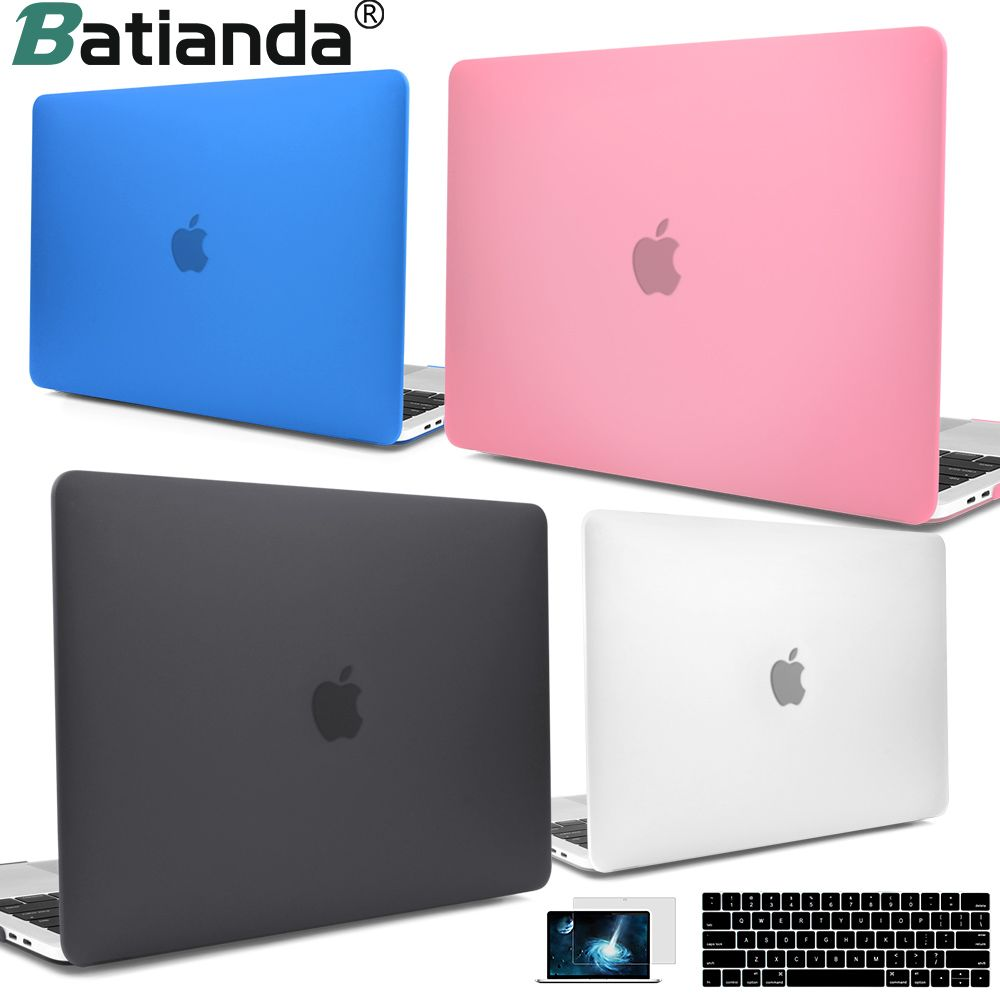 For New MacBook Pro Air Retina 13 15 Case 2018 2017 with <font><b>Touch</b></font> Bar & Keyboard Cover Clear Crystal Matte Hard Case for macbook