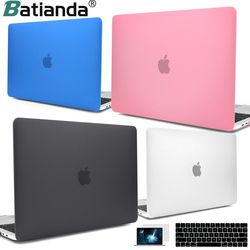 For New MacBook Pro Air Retina 13 15 Case 2018 with Touch Bar & Keyboard Cover Clear Crystal Matte Hard Case for macbook A1932