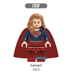 Aquaman XH759 Super Heroes Wonder Woman Supergirl Thor Superman Batman Jesse Punisher Bangunan Bata Blok Anak Hadiah Mainan