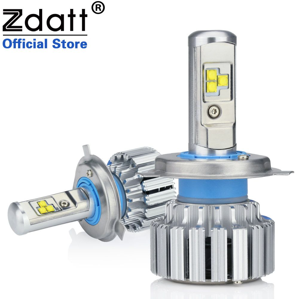 Clearance Sale Zdatt 2Pcs Super Bright H4 Led Bulb Canbus 80W 8000Lm Auto Headlights H1 H7 H8 H9 H11 Car Led Light 12V Fog Lamp