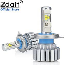 Liquidación Zdatt 2 piezas Super brillante H4 Led bulbo Canbus 80 W 8000Lm Auto faros H1 H7 H8 H9 h11 coche luz Led 12 V antiniebla