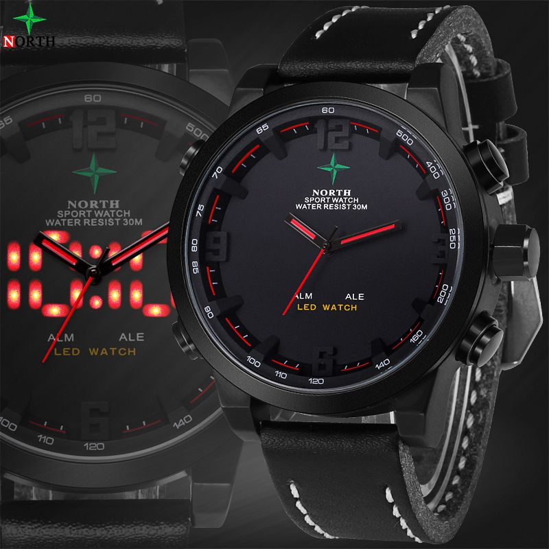 Reloj Hombre Sports Mens Watches Top Brand Luxury Digital-Watch Waterproof Quartz-Watch LED Wristwatch Digital Watch Men Sport