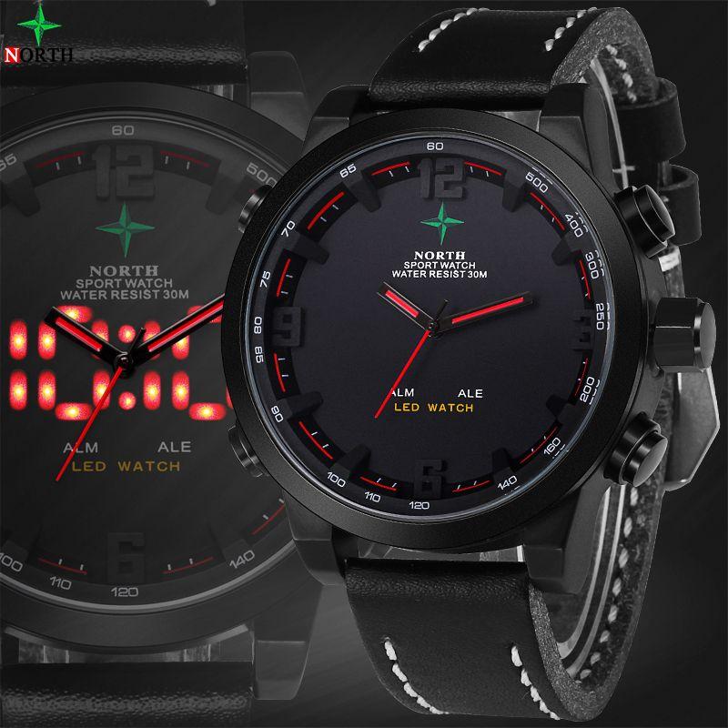 Reloj <font><b>Hombre</b></font> Sports Mens Watches Top Brand Luxury Digital-Watch Waterproof Quartz-Watch LED Wristwatch Digital Watch Men Sport
