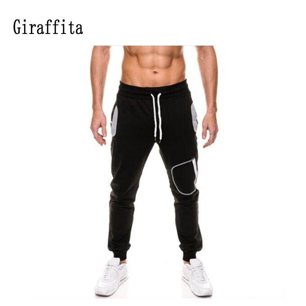 2017 Mens Sport  Joggers Pants Male Fitness Sweatpants Bottom Pants Men Running trousers