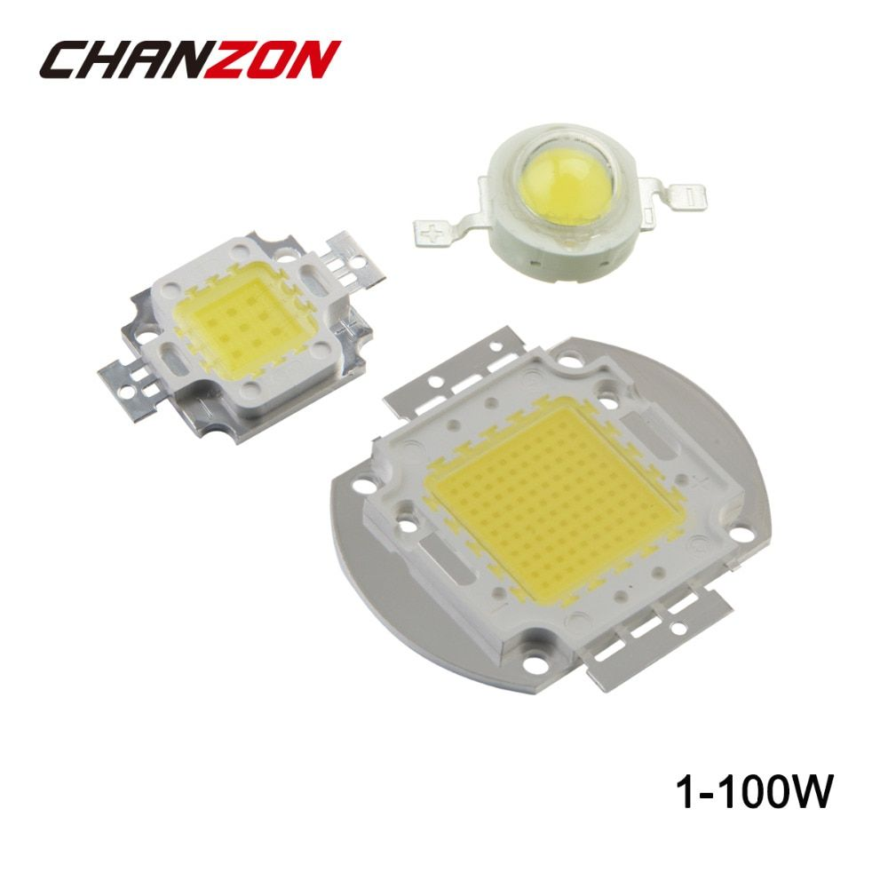 High Power LED Chip 1W 3W 5W 10W 20W 30W 50W 100W Warm Cold White Red Green Blue Yellow RGB SMD COB Light Lamp Beads Integrated