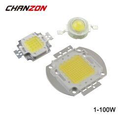 High Power LED Chip 1W 3W 5W 10W 20W 30W 50W 100W Warm Cold White Red Green Blue Yellow RGB SMD DIY COB Light Bulb Lamp Beads