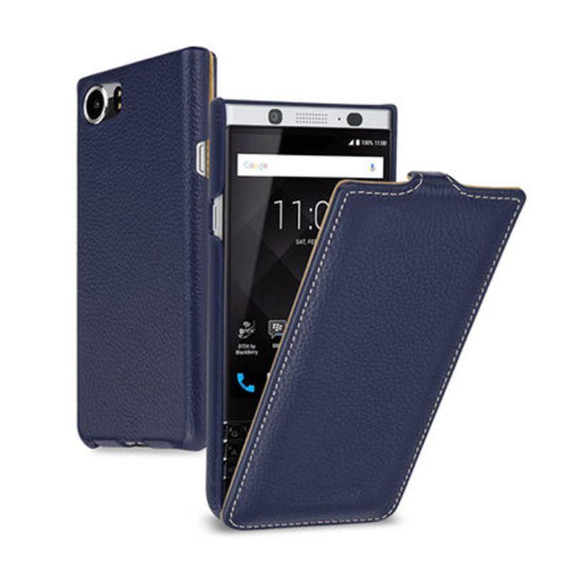 2017 neue Echtes Leder Handy Cover für Blackberry KEYone Fall Business Up Down Flip Plain Tasche für Black Berry PRESSE DTEK70 4,5