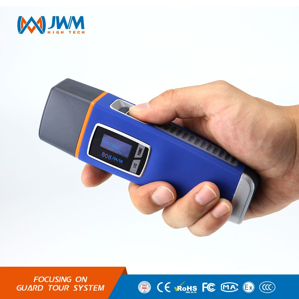 JWM Waterproof Fingerprint Security Guard Tour Patrol Wand System with Voice Prompt