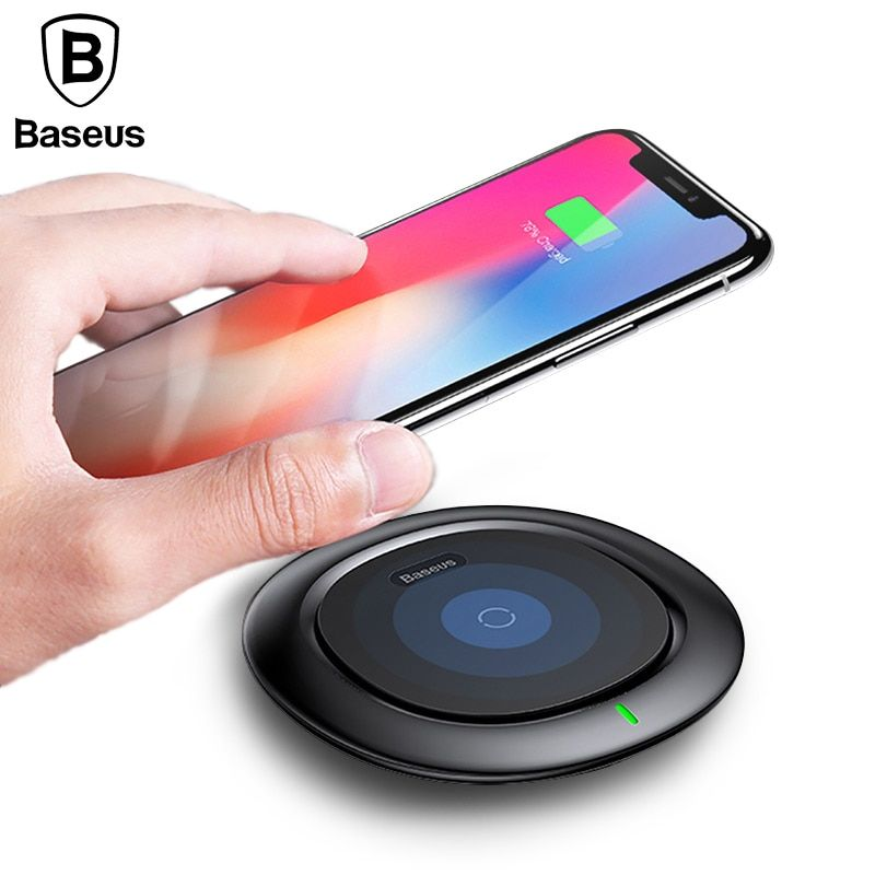 Baseus UFO Wireless Charger For iPhone X 8 Samsung Note8 S9 S8 <font><b>Mobile</b></font> Phone 10W Qi Wireless Charging Charger Fast Charging Pad