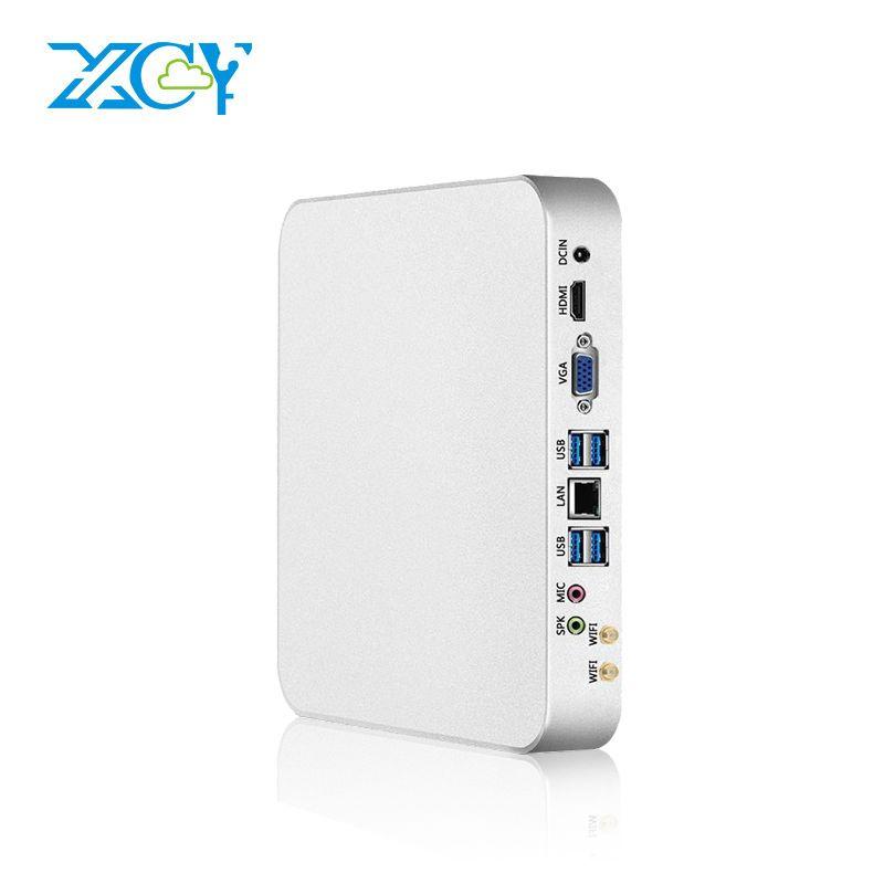 Xcy X26 Mini PC i7 7500u i5 7200u I3 7100u 7th gen procesador Intel Core DDR4 Ram Ventanas 10 Gaming PC 4 K UHD htpc HDMI VGA wifi