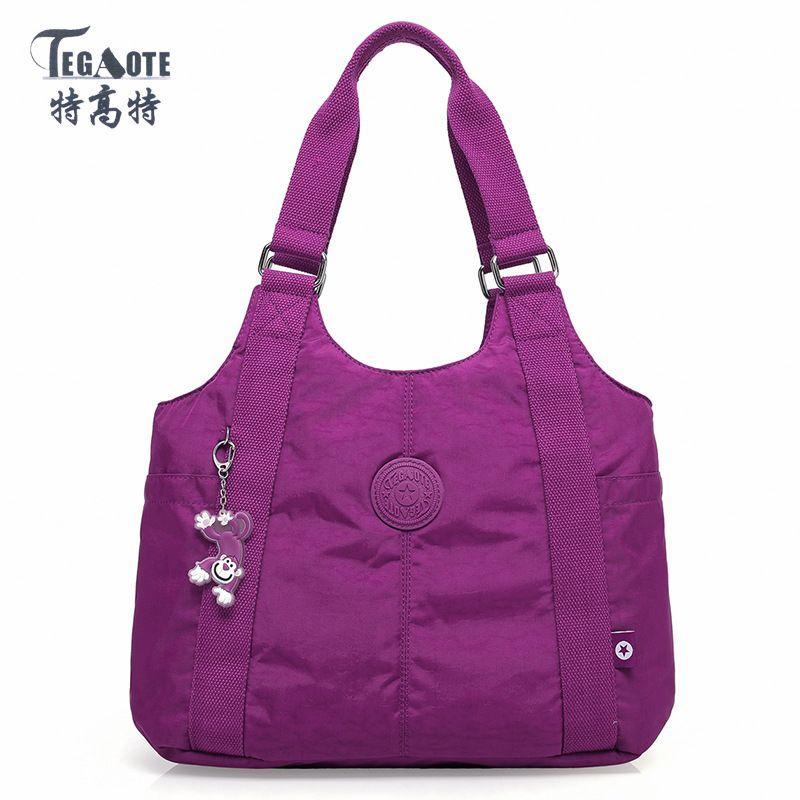 TEGAOTE 2017 Solid Handbags Women Zipper Shoulder Bag High-capacity waterproof Messenger Bag Female Sac A Main Bolsas Feminina