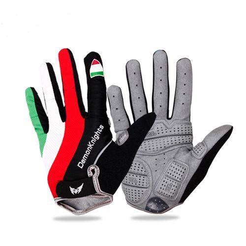 2016 gants de cyclisme chauds Sports de vélo gants de doigt complet GEL Pad Absorption des chocs gants de vélo Guantes Ciclismo