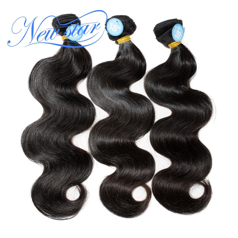NEW STAR Brazilian Body Wave 10-30Inch 3 Bundles 100% One Donor Thick Virgin human Hair Weave Extension Unprocessed Hair Weaving