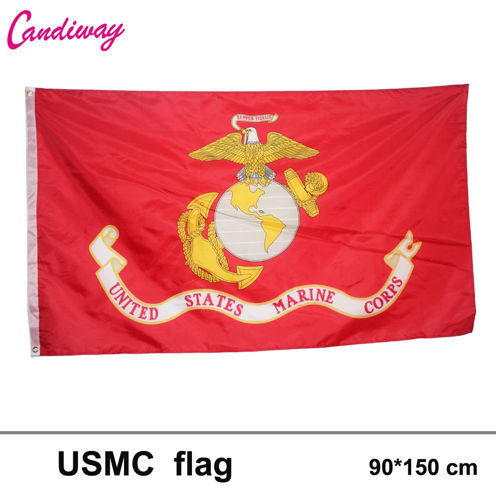 90*150cm UNITED STATES MARINE CORPS BOAT/MOTORCYCLE FLAG us army banner parade/Festival/Home Decoration New fashion