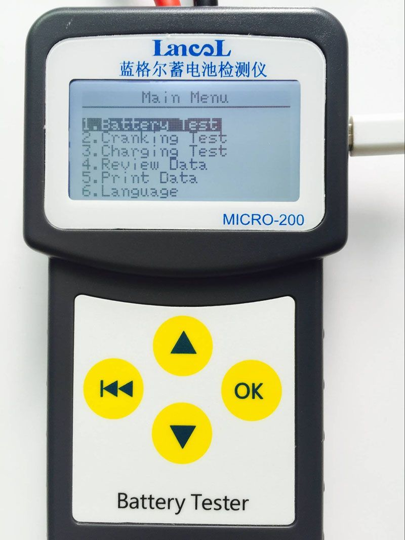 Russian Spanish Multi Languages Automotive 12V Car Auto Battery Tester 100-2000 CCA 30-200Ah System Analyzer can print in PC